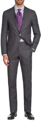 Isaia Men's Graph Windowpane Two-Piece Wool Suit