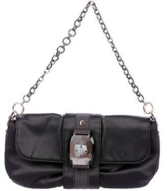 Lanvin Mother of Pearl-Embellished Satin Shoulder Bag