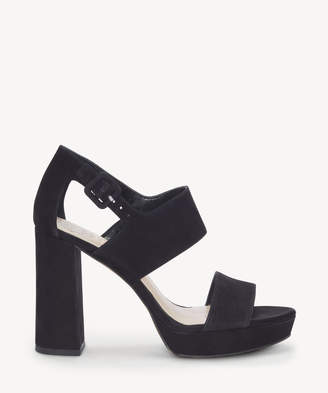 Vince Camuto Women's Jayvid Block Heels Sandals Black Size 5 Leather From Sole Society
