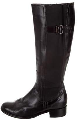 Bruno Magli Leather Knee-High Boots Black Leather Knee-High Boots