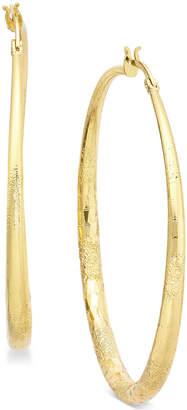 "Thalia Sodi Extra Large 2.3"" Textured Hoop Earrings"