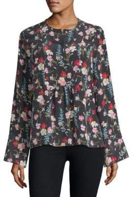 Equipment Heather Floral-Print Blouse