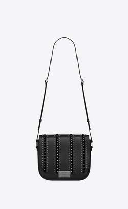 Saint Laurent Betty Satchel In Leather Suede And Studs