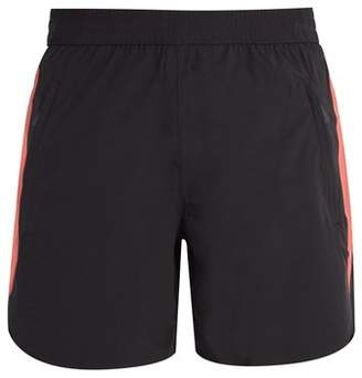 Blackbarrett By Neil Barrett - Side Stripe Double Layered Performance Shorts - Mens - Black Multi
