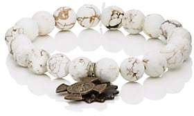 Miracle Icons Men's Vintage-Icon Beaded Bracelet - White