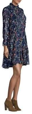 The Kooples Blue Bird Print Tunic Dress