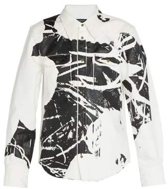 Calvin Klein 1964 Flower Print Cotton Jacket - Mens - Black White