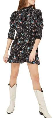 Topshop Star Floral Lace Minidress