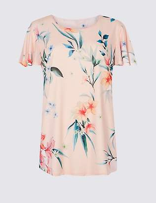 Per Una Floral Print Round Neck Short Sleeve T-Shirt - - 6 Pictures Cheap Sale With Paypal Cheap For Nice zzo1EQem