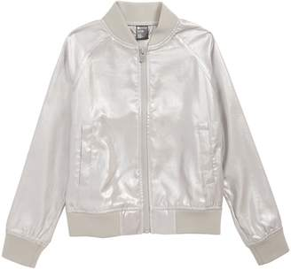 Zella Shine Metallic Bomber Jacket