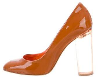 Stella McCartney Patent Leather Semi-Pointed Pumps