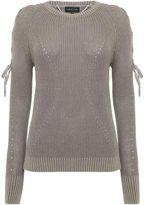 Label Lab Lace up shoulder knit