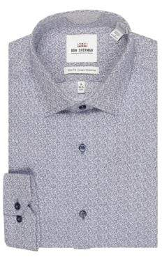 Ben Sherman Slim-Fit Printed Dress Shirt