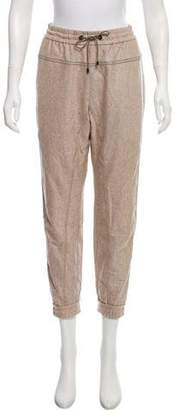 Brunello Cucinelli Brunello Cucinell Wool High-Rise Monili-Trimmed Joggers