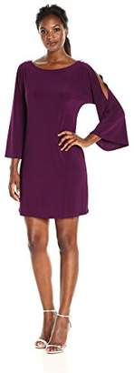 Tiana B Women's Cold Shoulder Dress with Rhinestone Trim