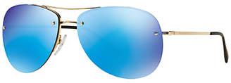 Prada Linea Rossa PS50RS Mirrored Aviator Sunglasses