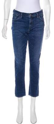 Gold Sign Mid-Rise Skinny Jeans