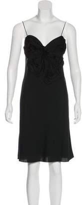 Robert Rodriguez Silk-Blend Knee-Length Dress