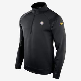 Nike Dri-FIT Therma (NFL Steelers) Men's Half-Zip Long Sleeve Top