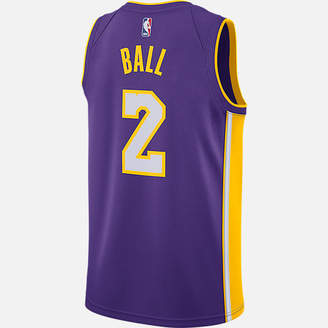 Nike Men's Los Angeles Lakers NBA Lonzo Ball Icon Edition Connected Jersey