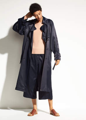 Vince Drapey Satin Trench