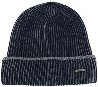 cdb44220942 ... HUGO BOSS ribbed logo beanie hat