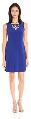 MSK Women's Sleeveless Dress with Front Design Cutout
