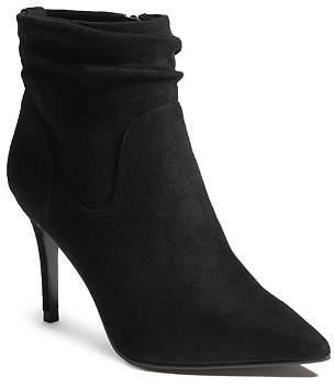 Karen Millen Women's Microfiber High-Heel Ankle Booties