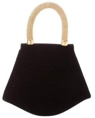 Paloma Picasso Velvet Handle Bag