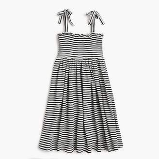 J.Crew Girls' smocked-bodice dress in stripes