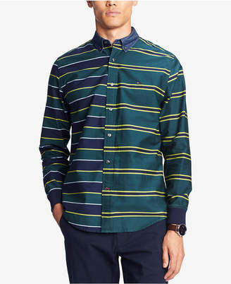 Tommy Hilfiger Men's Pieced Regi Striped Shirt