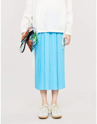 Pleats Please Issey Miyake Moncol high-waist pleated midi skirt