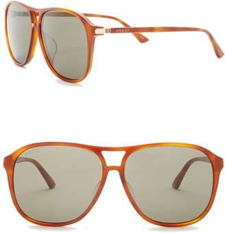 Gucci 59mm Navigator Sunglasses