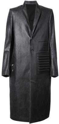 Rick Owens wet look coat