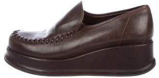 Robert Clergerie Leather Wedge Loafers