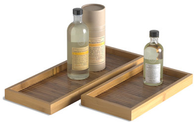 Bamboo Lattice Trays