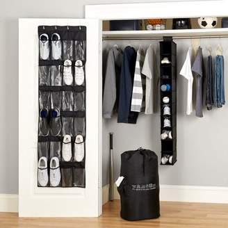 MAINSTAYS Mainstays 4-Piece Closet Organizer Set, Black