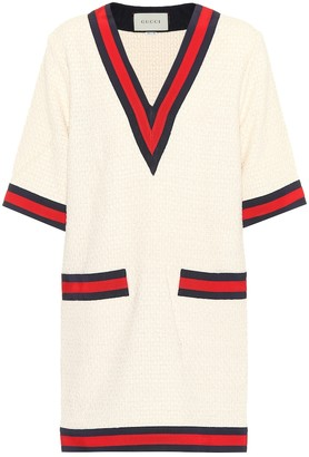 Gucci Cotton-blend sweater dress