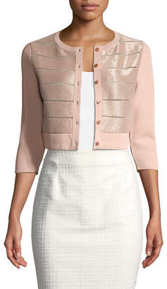 Carolina Herrera Knit Cropped Cardigan