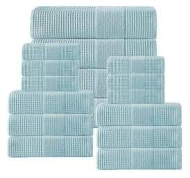 Ria Waffle Turkish Cotton Towels/Set of 16