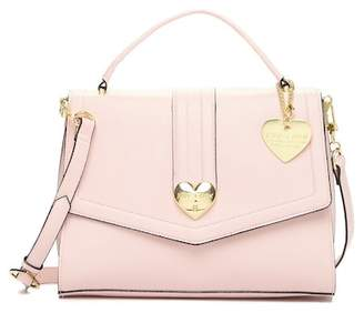 Betsey Johnson Heart Lock Satchel