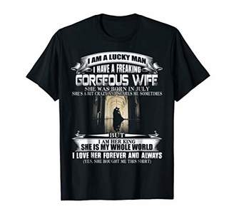 I Am A Lucky Man I Have A Freaking Gorgeous Wife Shirt