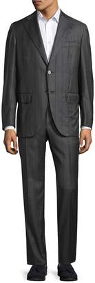 Isaia Men's Striped Notch Lapel Suit