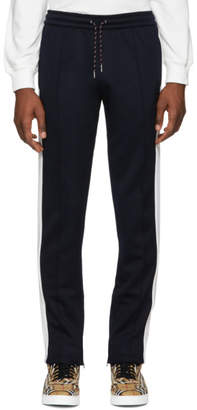 Burberry Navy and White Kaleford Lounge Pants