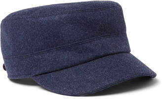 Brunello Cucinelli Virgin Wool Baker Boy Cap - Men - Blue