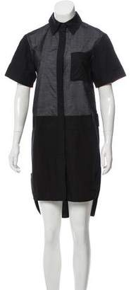 Alexander Wang Short Sleeve Button- Up Dress