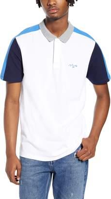 Topman Slim Fit Colorblock Pique Polo