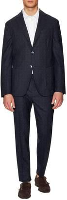 Luca Roda Men's Tetris Wool Notch Lapel Suit