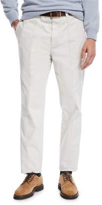 Brunello Cucinelli Men's Leisure Fit Pleated-Front Pants
