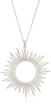 Rachel Jackson London Sunrays Long Necklace in Silver